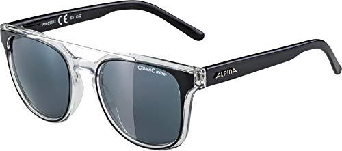 ALPINA Erwachsene Sylon Sonnenbrille, Black-transparent, One Size