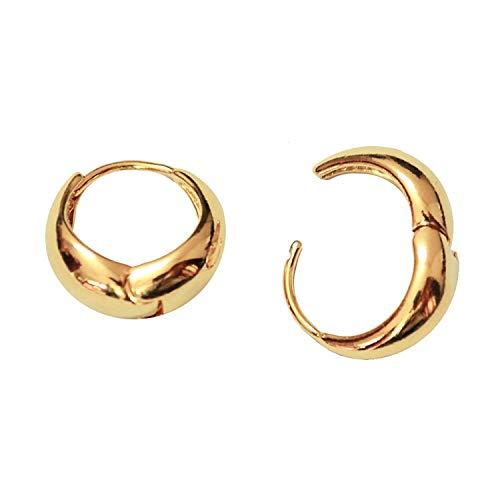BigMartTM Kaju Gold Plated Alloy Bali Hoop Earrings Bollywood Style Gold Hoop Earrings For Men And Boys Man Unisex Bali (Golden bali pack of 1)