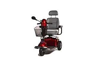 Freerider Knightsbridge S Three Wheel Class 3 Mobility Scooter - Red