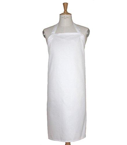 Preisvergleich Produktbild Weiße Latzschürze 100% Baumwolle, bis 95 Grad waschbar VARIO 1 von freitex