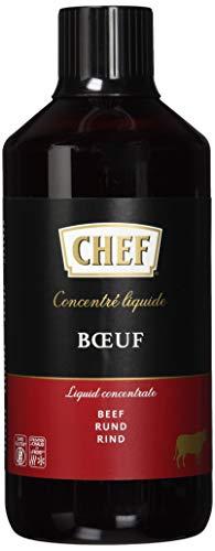 CHEF Flüssiges Konzentrat Rind, Geschmacksboost für Herzhafte Fleischgerichte, 100% Natürlicher Geschmack, 1er Pack (1 x…