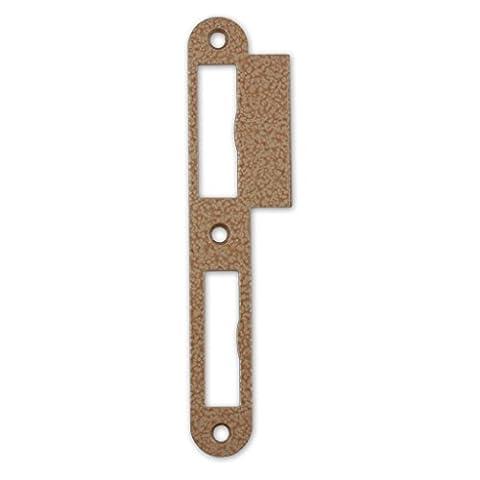 Premium Qualität M4TEC ZB7 Limba lackiertes Stahl-Schließblech - Robust Haltbar Leichte Montage - Elegantes Design - DIN L - Ideal für ein- und zweitourige stumpf einschlagende Innenraum-Türschlösser