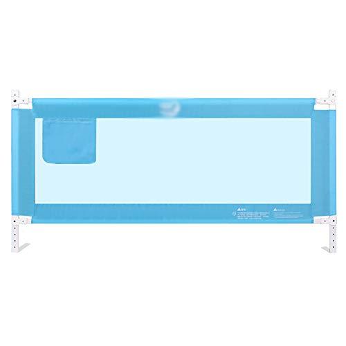 Barrières de lit de sécurité pour bébé, très Longue portative et Portable, Cadre en métal (Bleu) (Taille : Length 150cm)