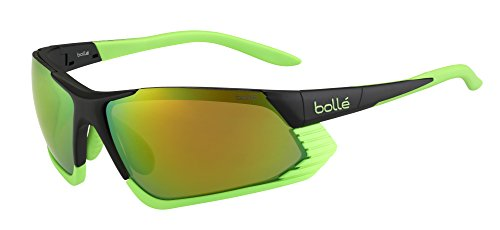 35cf8fd695 Bolle Cadence Sunglasses - Matte Black/Green, Medium/Large