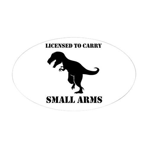 CafePress–zugelassen, für kleine Arme T-Rex Dinosaurier Sticke–oval Bumper Sticker KFZ Aufkleber, weiß, Large - 4.5x7.5 (Trex-arme)