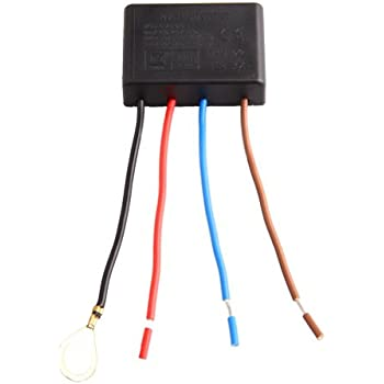 Askformore Uk Interrupteur Tactile à 4 Fils Pour Lampe à