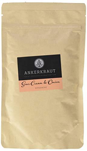 Ankerkraut Sour-Cream & Onion, 160g im aromadichten Beutel, Gewürzmischung zum Zubereiten von Sourcream Dip (Chips Onion Cream Sour)