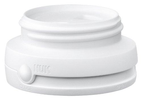 NUK 10256138 Drehverschluss, für First Choice Babyflaschen, BPA-frei, auslaufsicher, 1 Stück, weiß
