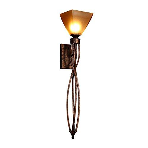 HAIZHEN Amerikanischen Dorf Bügeleisen Wohnzimmer TV Hintergrund Wandleuchte Bar Gang lange Wand Lampe Glas Lampenschirm Beleuchtung E27