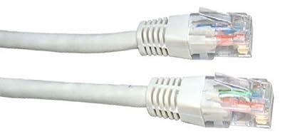 câble réseau Blanc - qualité professionnelle - CAT5e (amélioré) - 100% fil de cuivre - RJ45 - Ethernet - Patch - sans fil - Routeur - Modem - 10/100 de World of Data