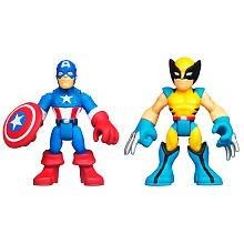 Captain America & Wolverine Marvel Super Hero Adventures Mini Figure 2 Pack Wave 2