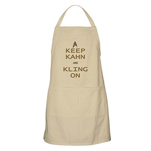 cafepress – Garder Kahn Kling sur – Tablier de cuisine 100% coton avec poches, idéal pour griller Tablier ou cuisson tablier