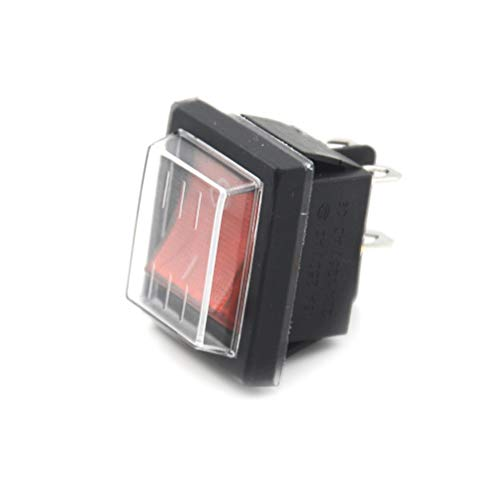Switches - Durable 16a 250v Ac 20a 125v Red Button Rocker Switch With Cover 4 Plugs Electrical Equipment - On And To European Block 32a Outlet Toggle Power Of With Switch Toggle Switch Waterpro (Toggle Switch Assembly)