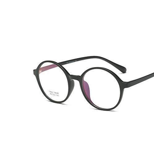 BaiLun Round Non-polarized Eyeglasses Retro Clear Lenses Glasses TR90 Lightweight Frame with Case for Women