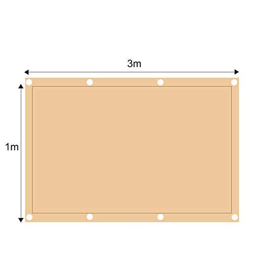 ZJDU Sonnensegel Canopy Rechteck Sand, Sonnensegel UV-Block Für Patio Garden Outdoor-Anlage Und Aktivitäten,1x3m -