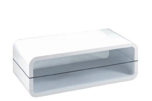 Presto mobilia 10947 Couchtisch Wohnzimmertisch TV Rack Tisch Ovalis 08, 120 x 60 x 40 cm,...