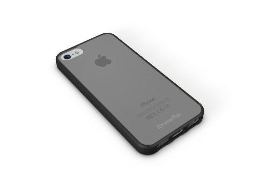 XtremeMac IPP-MAN-73 Microshield Accent Schutzhülle für Apple iPhone 5 rot/orange Black/Tinted