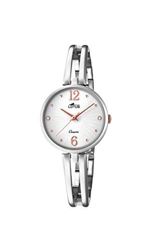 Lotus Watches Reloj Análogo clásico para Mujer de Cuarzo con Correa en Acero Inoxidable 18442/1
