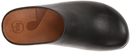 FitFlop Womens Shuv Clogs Leather Shoes Noir