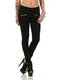 28deb198ace7 Fashion4Young 5755 Damen Jeans Röhrenjeans Hose Stretch-Denim Skinny Röhre  Damenjeans Slimline