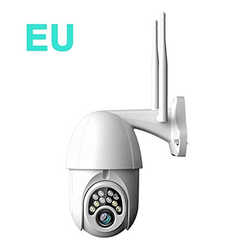 belukies PTZ IP Dome Kamera Outdoor, Überwachungskamera WLAN Aussen, 1080P Schwenk/Neige/5-Fach Optischer Zoom, IR-Nachtsich, IP66 Wasserfest, Bewegungsmelder, Unterstützung Von 64GB TF Karten