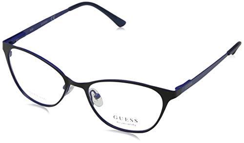 Guess Unisex-Erwachsene GU3010 002 51 Brillengestelle, Schwarz (Nero Opaco), - Brille Frames Guess