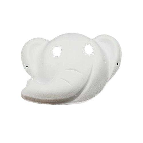 10 Piezas de la Máscara en Blanco Elefante Máscara Blanca de la Máscara del Traje de Papel Máscara de la Pintura de DIY