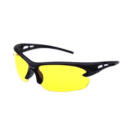Topsaire Unisex Sonnenbrille Sportbrille Nachtsichtgläser Augenschutz Winddichte Radsportbrille Outdoor-Sports hochauflosende Polarisationen Spezielle Nachtfahrten Brille