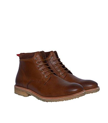NOBRAND Chaussures hautes Homme Bottes Bottines Boots-Cuir-Marron mat