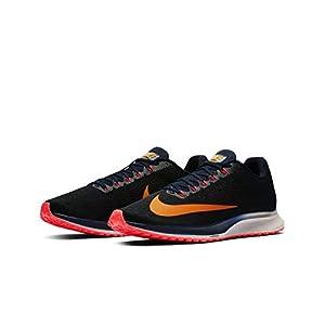 Nike Air Zoom Elite 10, Zapatillas de Running para Hombre, Negro (Black/Orange Peel/Blackened Blue/Flash Crimson/Moon Particle 084), 44.5 EU