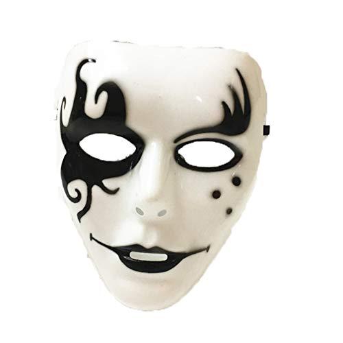 Guy Tanz Kostüm - AND Halloween Gast Dancehip Hop weiß Hip-Hop Maske Gesicht Tanz Schritt Schritt Schritt Tanz Maske Maske Tänzer Horror Gesicht