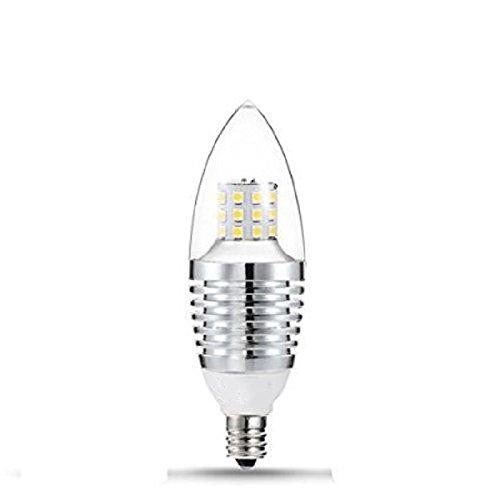 elegantstunning LED E12 Candelabra Basis Birne, 7W Warm Weiß 6000 6500K LED Kerze Birne, 110V, 650 Etbotu Lumen LED Birne Lichter, Nicht dimmbar, Torpedo Form, Thread Splitter
