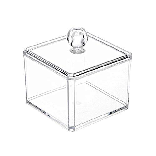 N/ YAOUXSN Kosmetische Box Acryl Mit Deckel Kosmetische Wattestäbchen Ohrringe Ring Brosche Pulver Aufbewahrungsbox Rack Familie Arbeitsplatte Mini