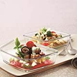 #7: Borosil Square Dish with Lid Set, 500ml, Set of 2
