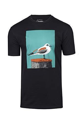 Paint Gull T-Shirt - Black/Columbia Größe: L Farbe: Black/Columbia