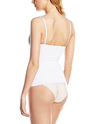 belly cloud Damen Unterhemd figurformendes seamless Top mit Spaghetti-Trägern Weiß (weiß 099)