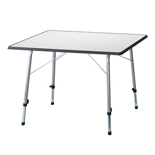 campersten Campingtisch grau 80x60cm | klappbarer Balkontisch | höhenverstellbar und faltbar