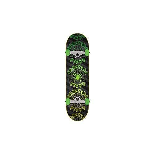 Creature Skateboard Komplett Fiend Web - 7.75 Inch Schwarz-Grun (One Size, Grun)