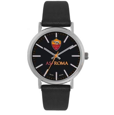 AS Roma Tidy, Orologio da Polso Unisex - Adulto, Nero, One Size