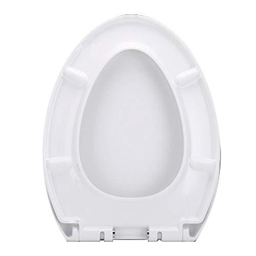 Biback Premium Verdickter Toilettensitz mit Deckel, weiß Schnellverschluss für einfache Reinigung, passend für altmodische große V-Form U-Form quadratisch O-förmig, a, Type v 01b