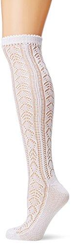 Lusana Damen Trachtenstrümpfe Trachtenstutzen Lara Weiß (Weiß 26), 42/43 (Herstellergröße: 40-42)