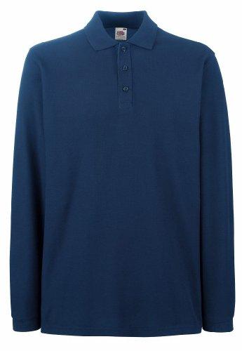 Fruit of the Loom - Premium Longsleeve Poloshirt Navy