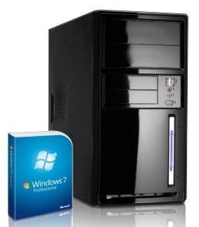 Preisvergleich Produktbild Shinobee Silent Office absolut leiser Business PC / Windows 7 Professional 64 Bit / AMD Phenom II 2x3.4 GHz / ATI Radeon HD 3000 1024 MB DVI - VGA / 8GB DDR3-1333 / 500GB S-ATA II Festplatte / CardReader / 150Mbit W-LAN / 22x DVD-Brenner / Superleiser Flüster-PC - Silence Netzteil und CPU Kühler / inkl. Office 2010 Starter / 4452
