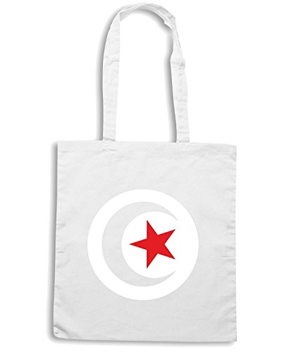 T-Shirtshock - Borsa Shopping TM0253 TUNUS Flag- gsyaso flag Bianco
