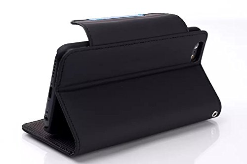 "inShang Hülle für Apple iphone 6 PLUS iPhone 6S Plus 5.5 inch iphone 6+ 6S+ 5.5"" (2014 sEP & 2015 Sep Release), Edles PU Leder Tasche Hülle Skins Etui Schutzhülle Ständer Smart Case Cover für iphone 6 sleek black"