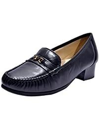 Kuja-Parish Women's Black Leather Formal Shoes