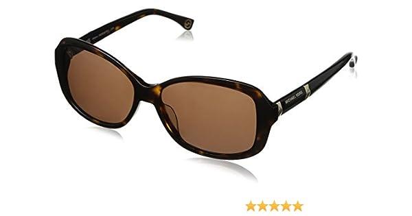 Michael Kors Damen M2860SRX Rechteckig Sonnenbrille, Brown frame/Brown lens (206)