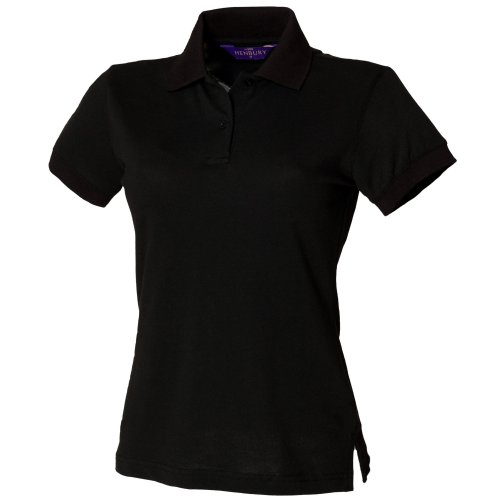 Henbury Womens/Ladies Stretch Pique Polo Shirt