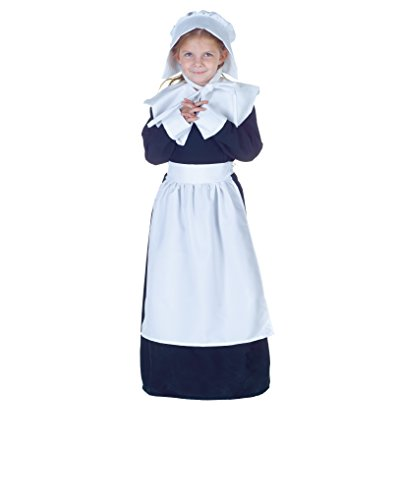 Pilgrim Kostüm Kinder - Pilgrim Girl Costume Girls Medium 6-8