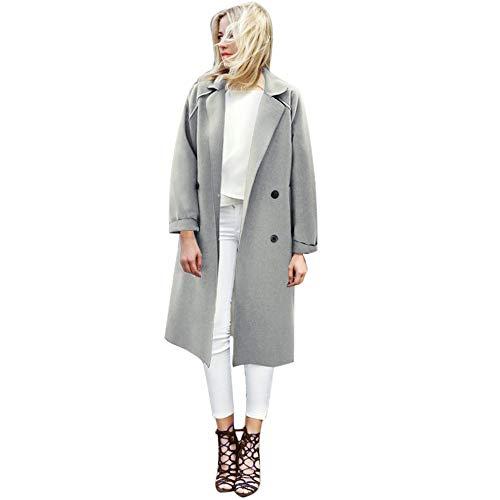 VEMOW Herbst Winter Elegante Damen Cashmere-Like Dicker Jacke Outwear Parka Cardigan Casual Täglichen Business Schlank Mantel(X3-Hellblau, EU-36/CN-M)